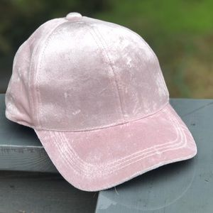 Accessories - Pink velvet baseball hat